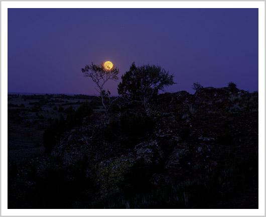 Full Moon Idaho Full Moon And Jupiter Over