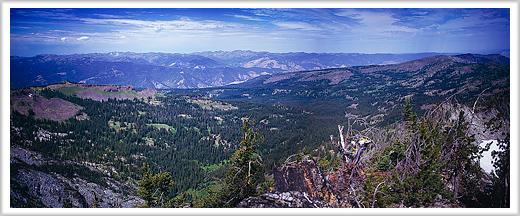Panorama View from Hard Butte Mountain